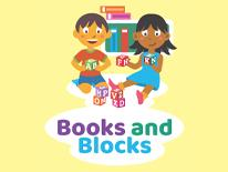 Books and Blocks event logo