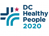 DC Healthy People 2020 Logo - Navy, Turquoise Bars and Red Star