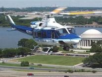 US Park Police Eagle over Jefferson Memorial